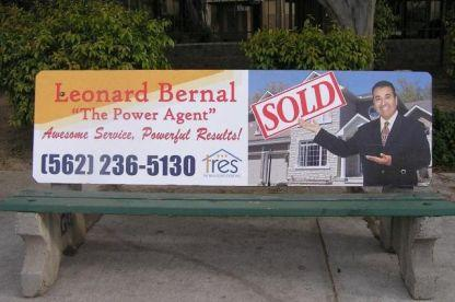 L. Bernal Realty Bench Ad